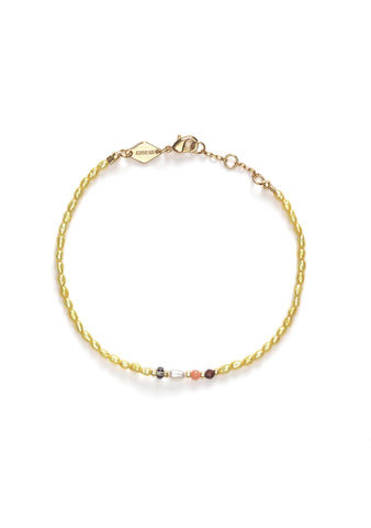 Anni Lu Rice & Shine Yellow Cream Bracelet