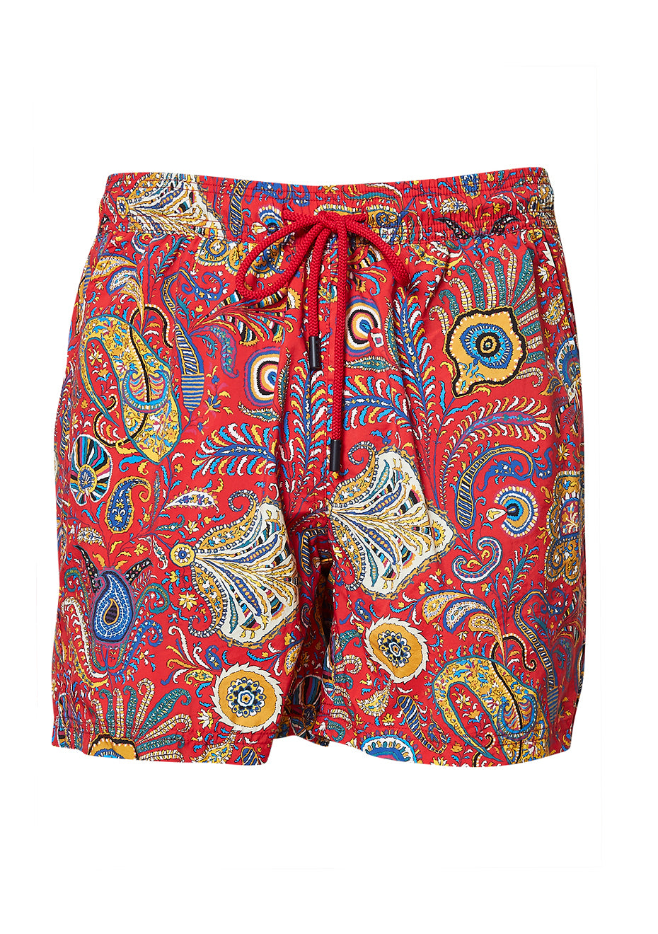 Red Paisley Swim Shorts