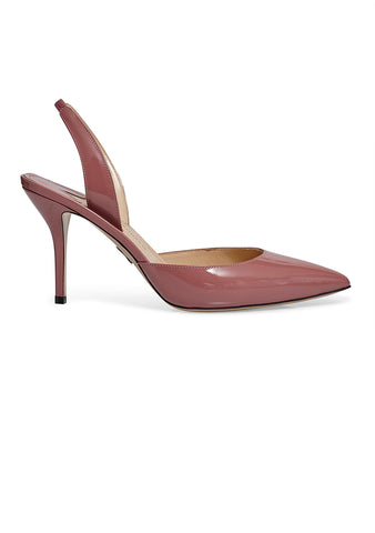 Paul Andrew Antique Rose Rhea Slingback Heels