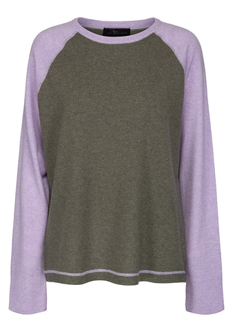 Bad Habits Moss & Lilac Rugby Cashmere Sweater