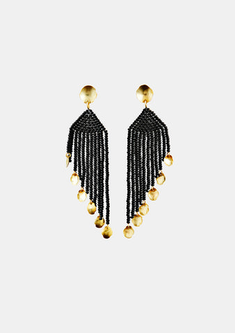 MAREgold Black Saltillo Diagonal Dangling Earring shop online at lot29.dk