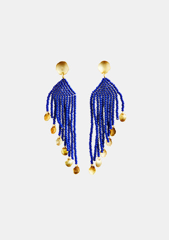 MAREgold Blue Saltillo Diagonal Dangling Earring shop at lot29.dk