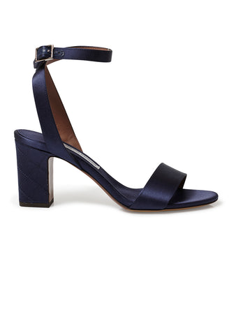 Tabitha Simmons Navy Satin Leticia Sandals SS18