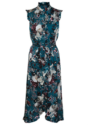 Erdem Selba Eastbury Teal Dress