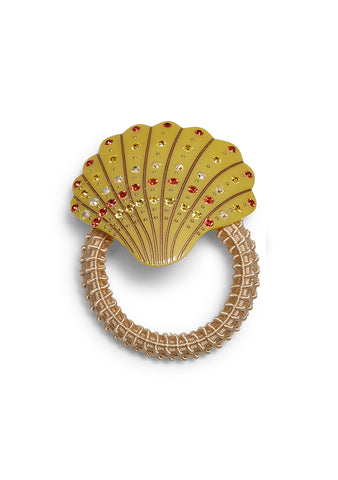 MC Davidian Yellow Seashell Hair Elastic