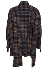 Checked Panelled Shirt