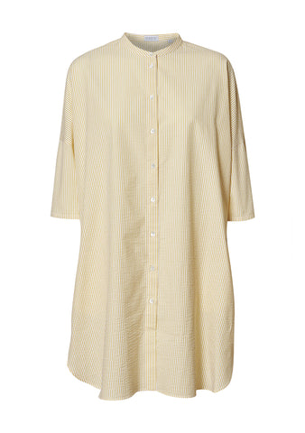 Harris Wharf London Pastel Yellow Oversized Shirt Dress shop online at lot29.dk