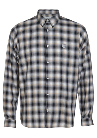 Tonsure Charles Beige Check Shirt