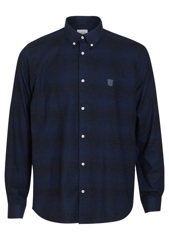 Tonsure Charles Dark Blue Check Shirt