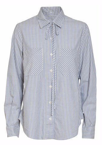 Raquel Allegra Striped Bolero Workshirt