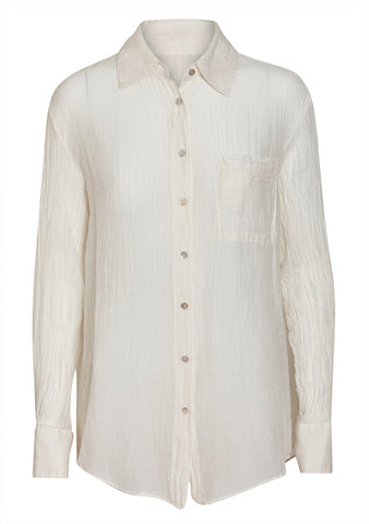 Raquel Allegra Ivory Button Up Shirt