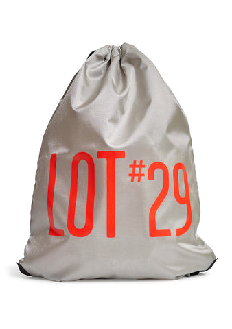 lot #29 Silver Logo Gym Bag
