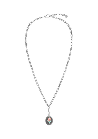 Wilhelmina Garcia Silver Tulip Necklace