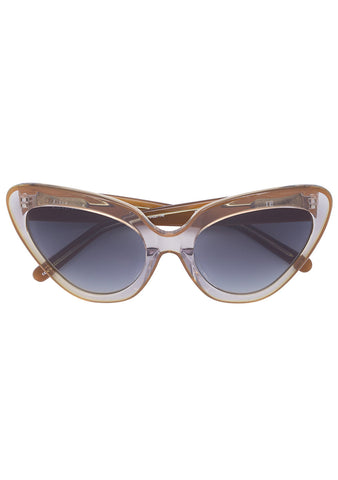 Erdem x Linda Farrow Smoke Cat Eye Sunglasses