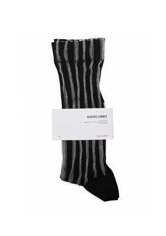Rachel Comey Black Platform Striped Tulle Socks