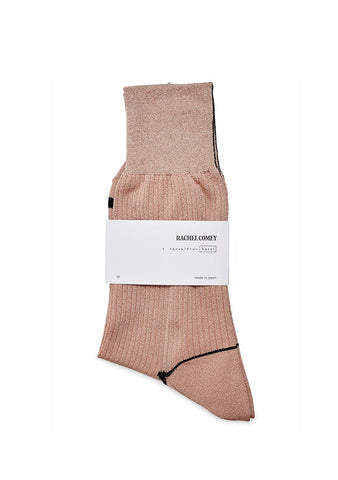Rachel Comey Biles Metallic Blush Socks