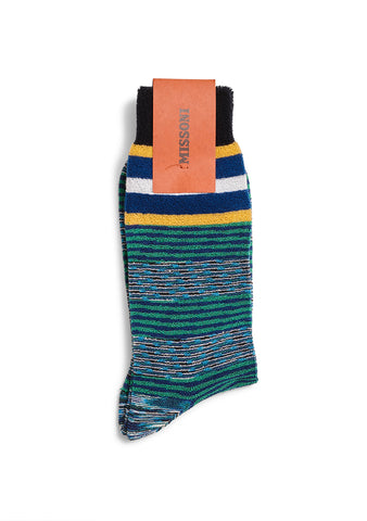 Missoni Green Striped Socks