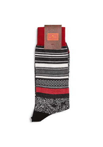 Etro Black Jacquard Socks