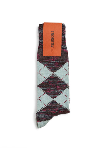 Missoni Mint Argyle Socks