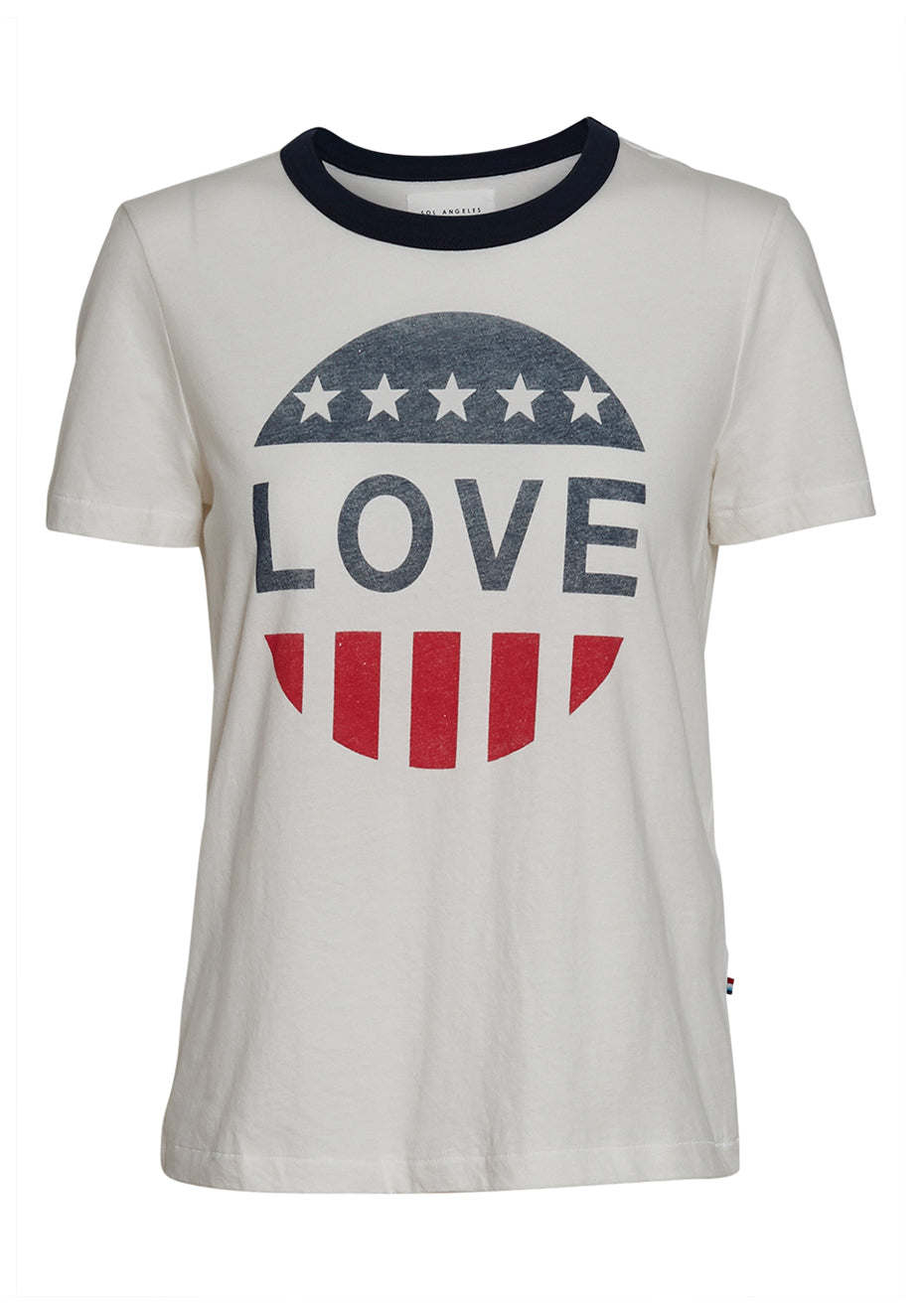 Freedom Love Ringer Tee