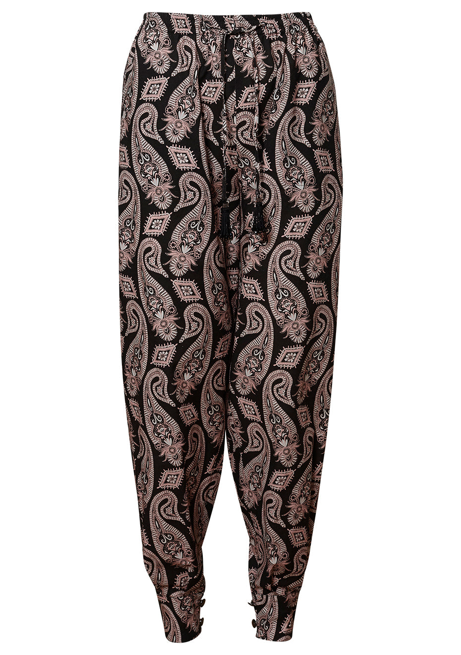 Black Paisley Pants