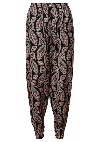 Etro Black Paisley Pants shop online at lot29.dk