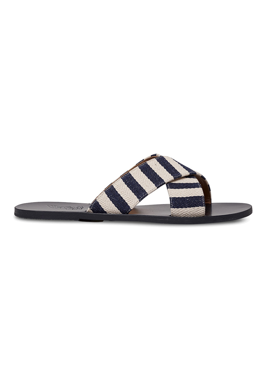 Striped Canvas Kritonas Sandals