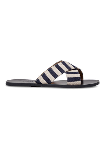 Ancient Greek Striped Canvas Kritonas Sandals
