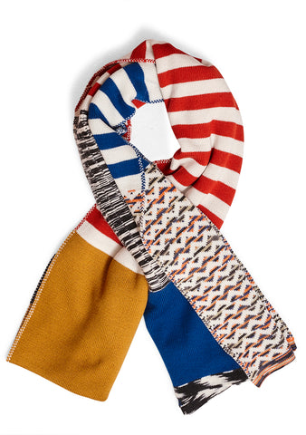 Missoni Abstract Knit Wool Scarf
