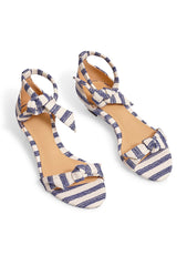 Clarita Striped Wedge Sandals