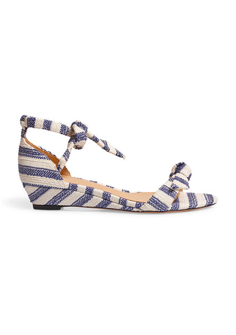 Alexandre Birman Clarita Striped Wedge Sandals