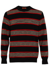 Missoni Men Striped Cashmere Crewneck Sweater