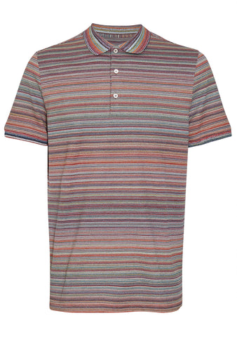 Missoni Multicolor Striped Polo Shirt