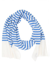 Bad Habits Men White & Blue Cashmere Scarf