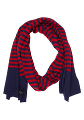Bad Habits Men Navy & Red Cashmere Scarf