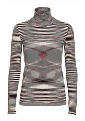 Missoni Black Striped Turtleneck Sweater