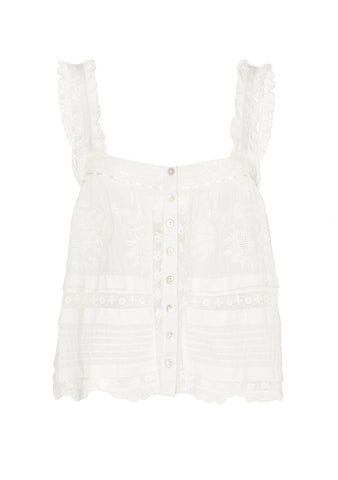 LoveShackFancy Sully White Top shop at lot29.dk