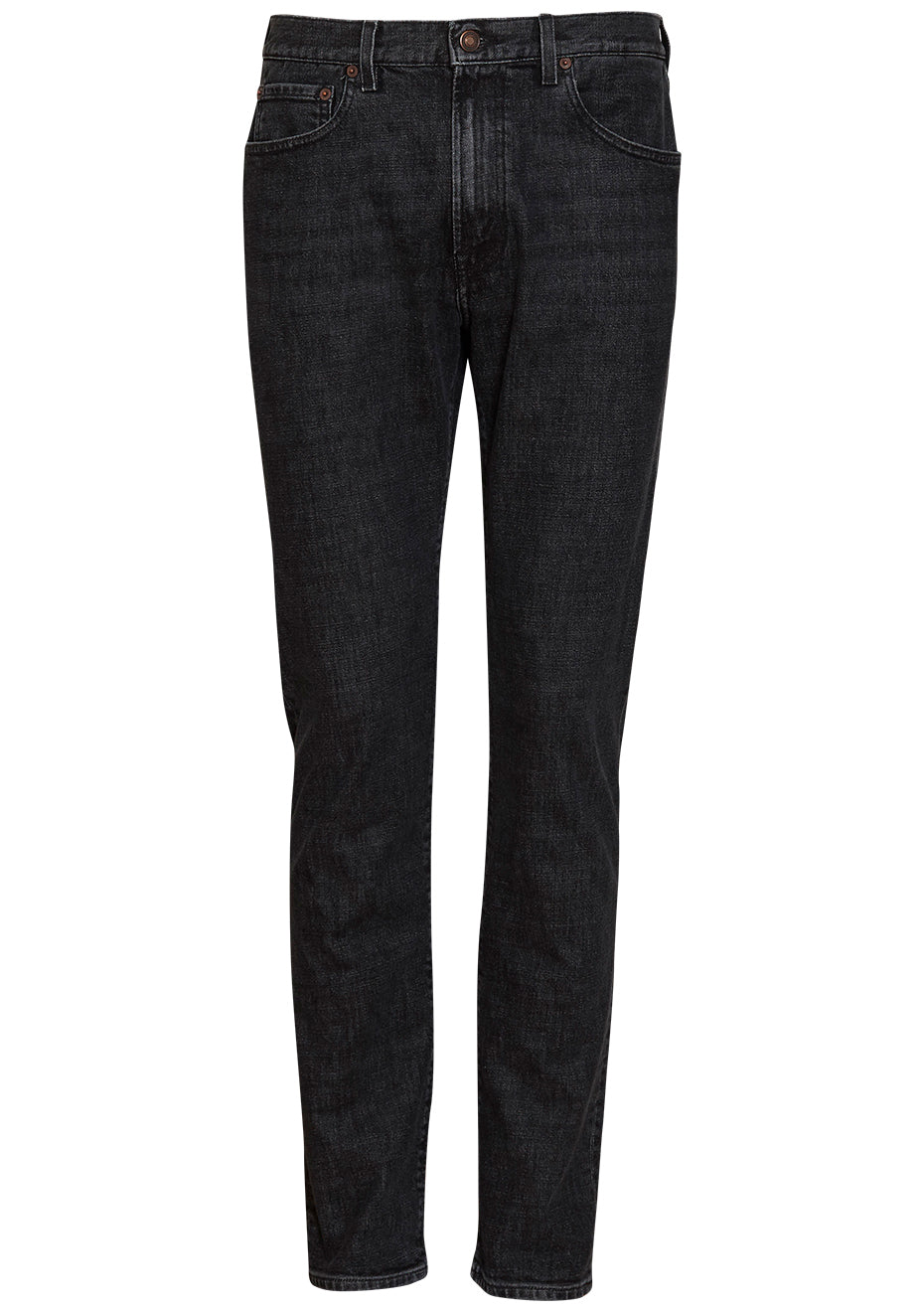 TM005 Black Stone Tapered Jeans
