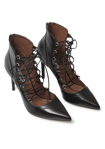 Tabitha Simmons Yana Lace-up Leather Pumps