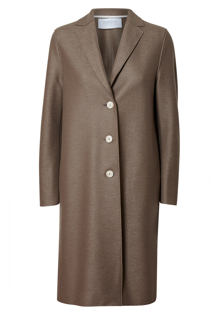 Taupe Light Pressed Wool Overcoat