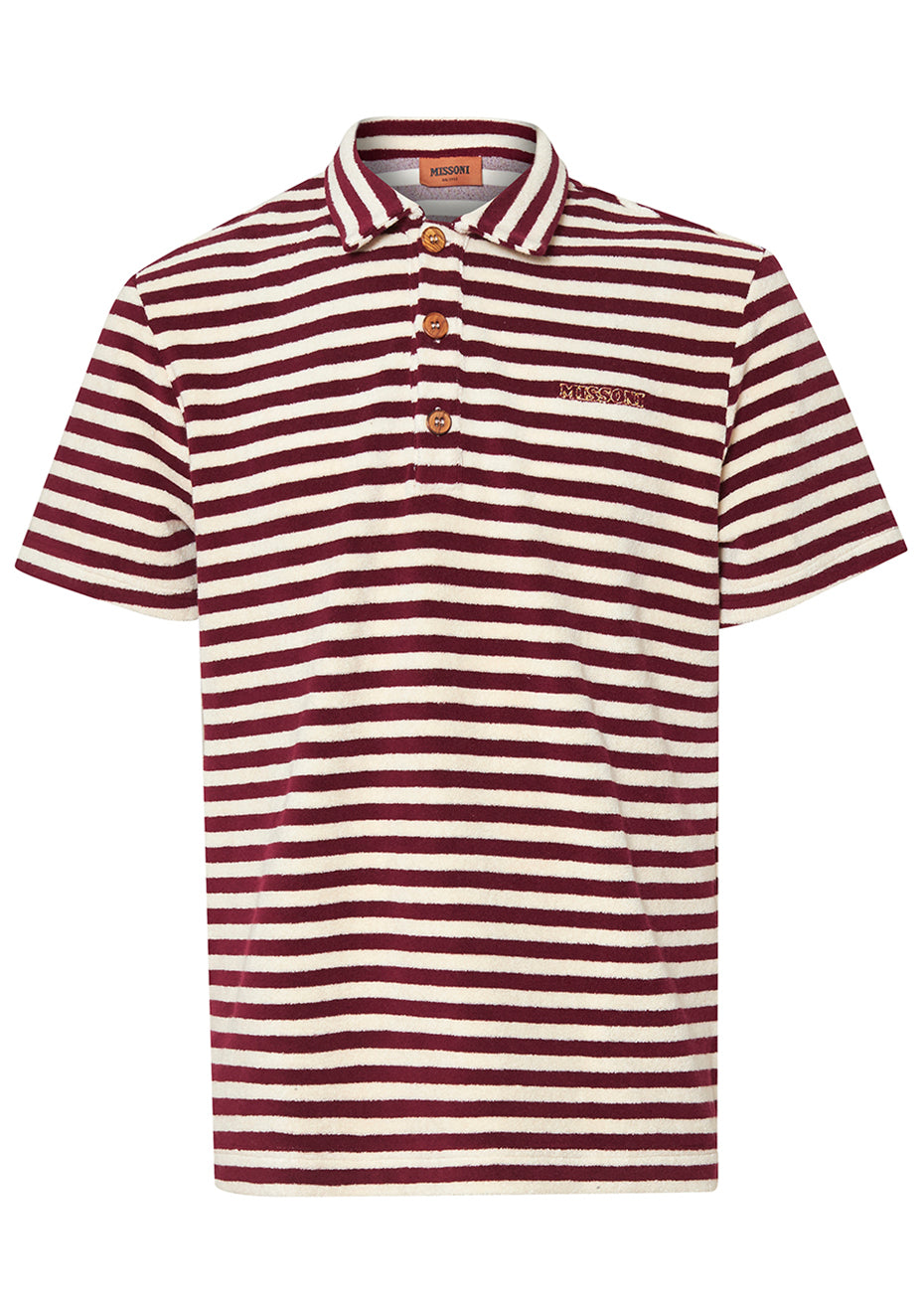 Striped Terry Polo Shirt