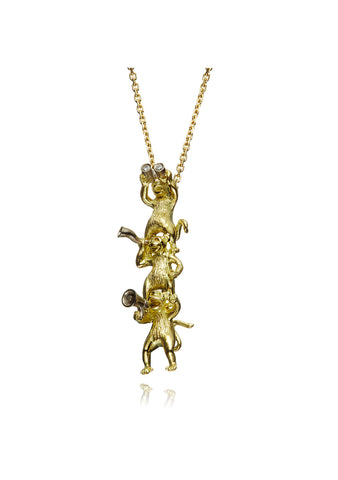 Danger Jewels The Monkey Speak Its Mind Necklace