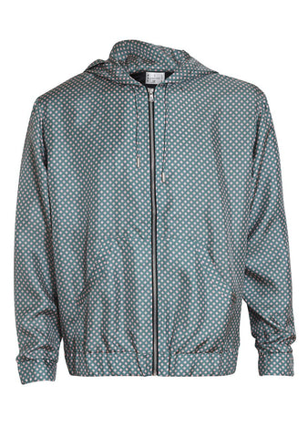 All At Sea Pink & Green Square Tracksuit Jacket