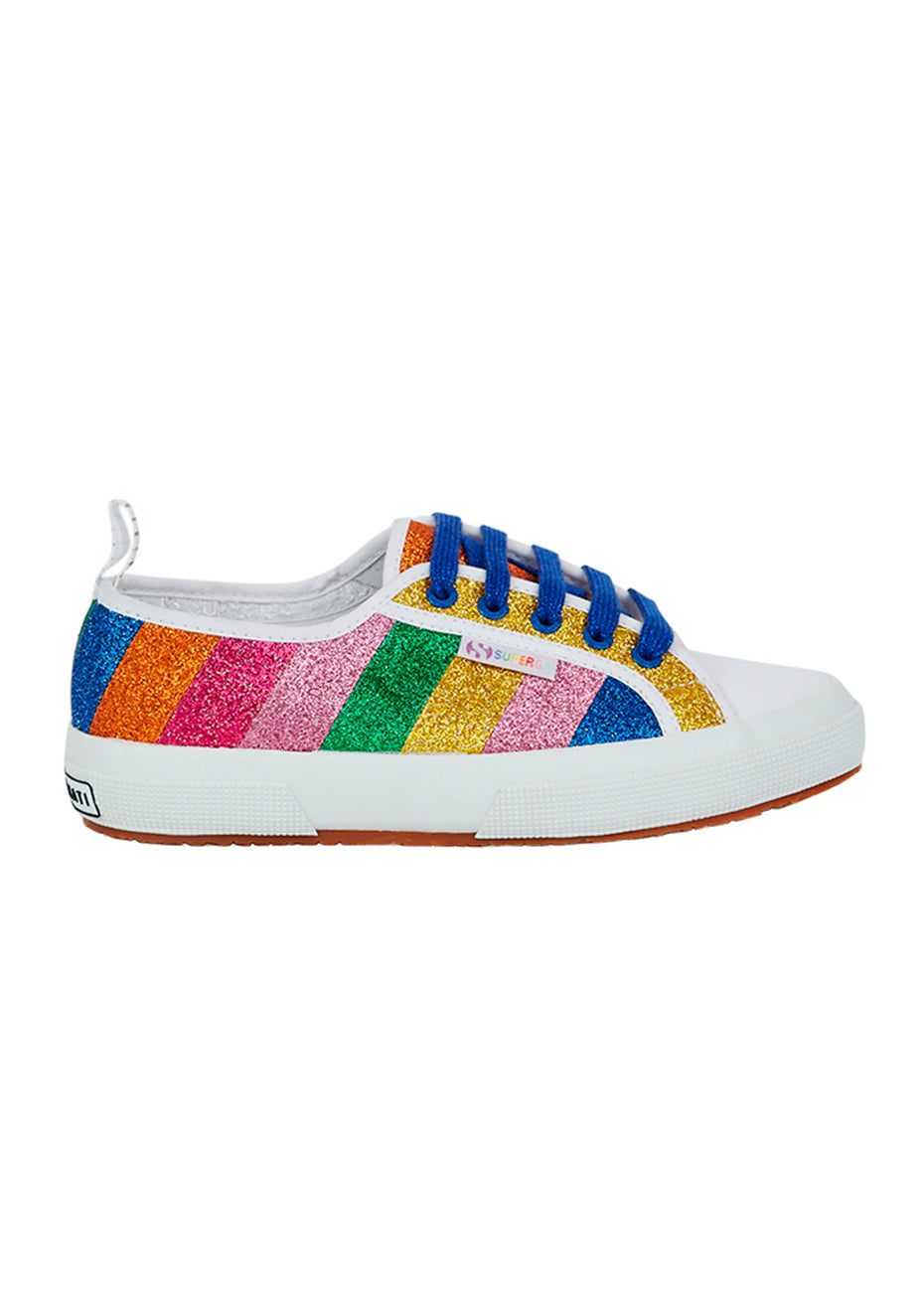 Superga Stripe Glitter Sneakers