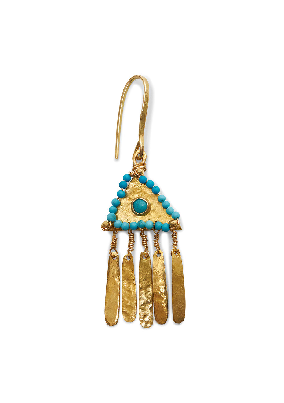 Triangle Earring With Turquoises
