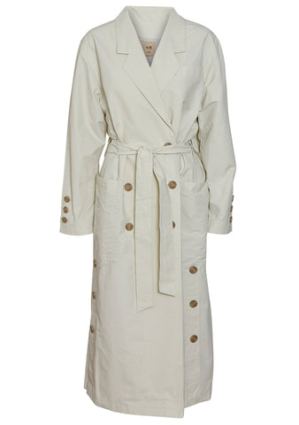 Birrot Trench Coat Eggshell