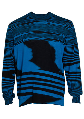 Missoni Turquoise Striped Wool Sweater