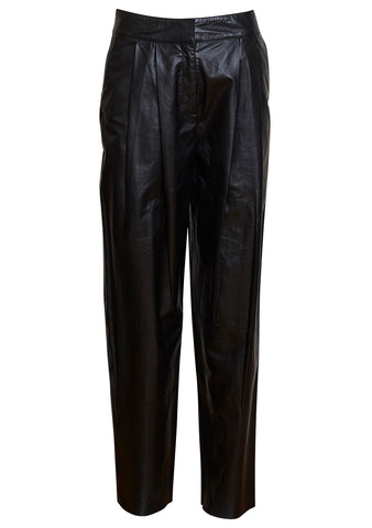 UTZON Black Shiny Feather Lamb Bowie Pants