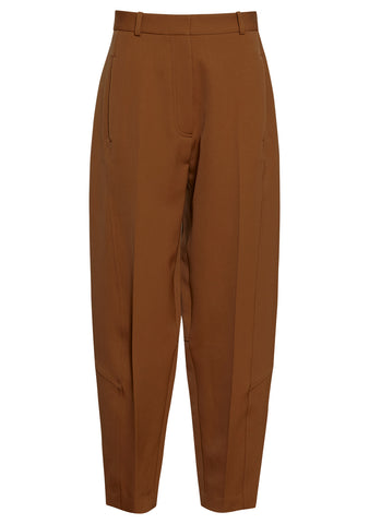 Victoria Beckham Tan High Waisted Trousers