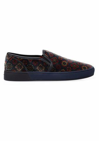 Etro Velvet Slip-On Sneakers